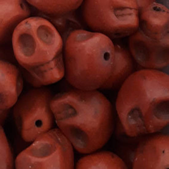 Howlite Skull: Small - Brownish