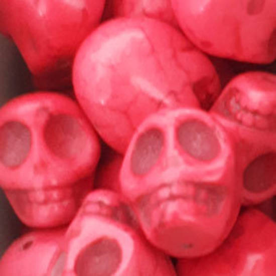 Howlite Skull: Large - Pink