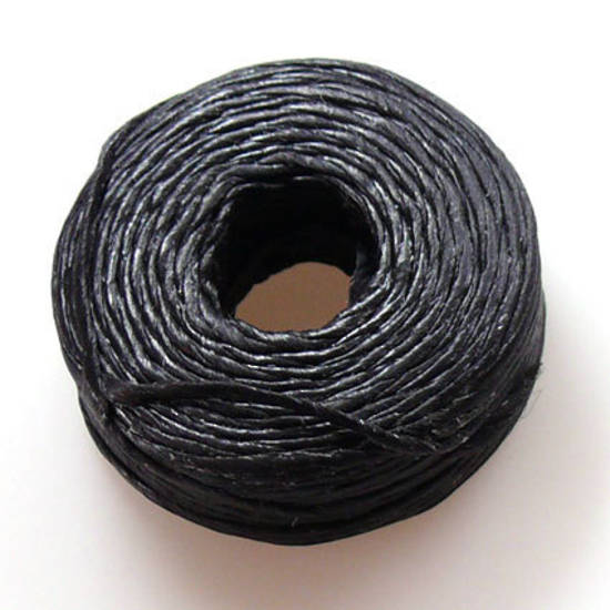 1mm Cotton 'Sinew' Cord - Black