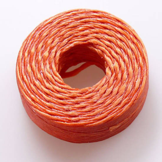 1mm Cotton 'Sinew' Cord - Orange