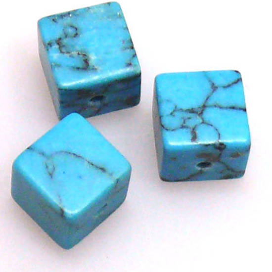 Blue Howlite, 8mm cube