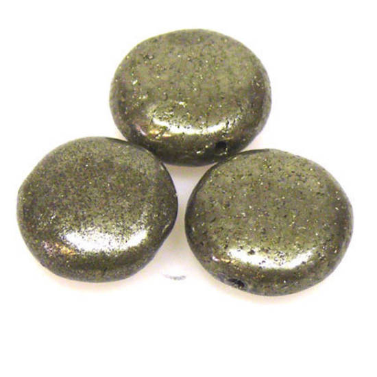 Iron Pyrite, flat disc, 15mm