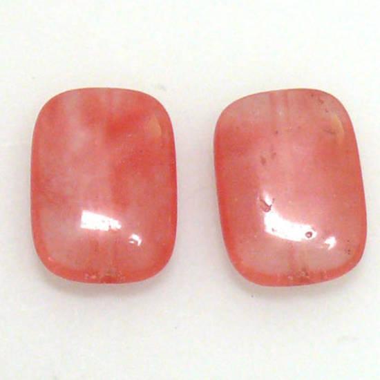 Cherry Quartz, rectangle, 18 x 13mm