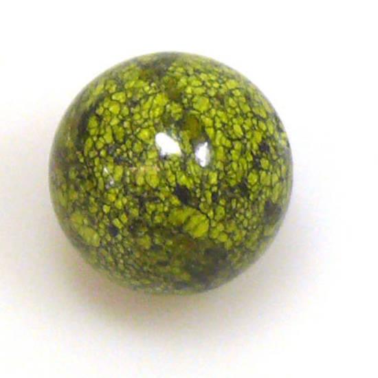 Semi Precious, Green Snowflake ball, 20mm