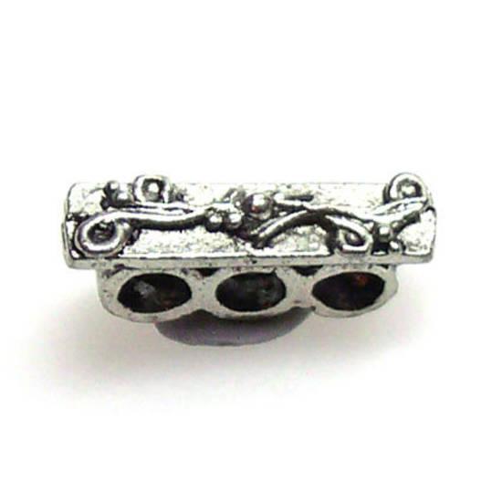 Spacer Bar, three holes, vine pattern