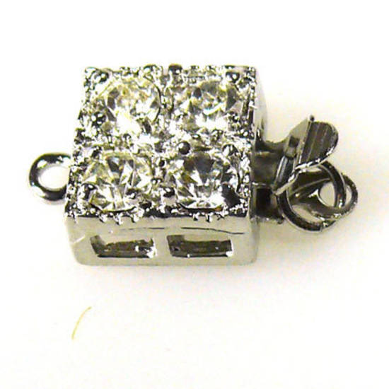 Sparkly Clasp,  Square shaped