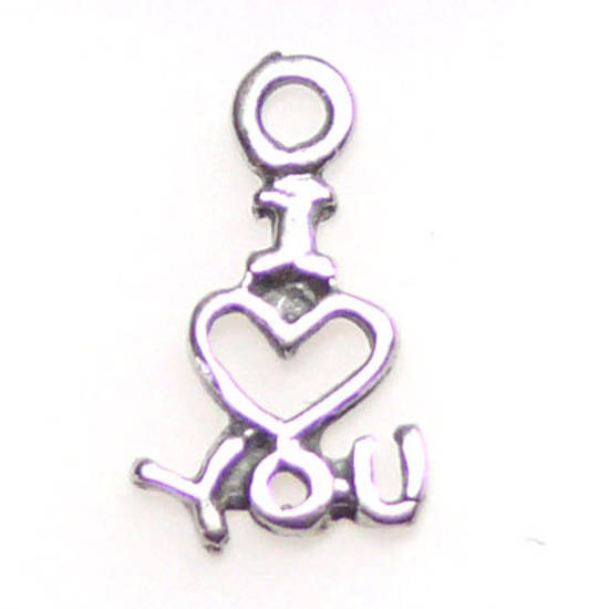 I Love You Charm, sterling silver
