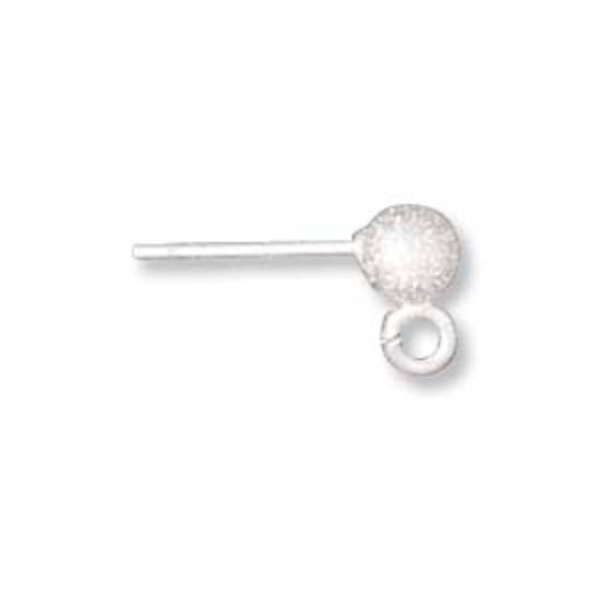 Sterling Stud Drop - 4mm ball with butterfly backs 'stardust'