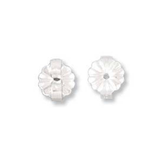 Butterfly Back: Sterling silver - 6.5mm daisy back
