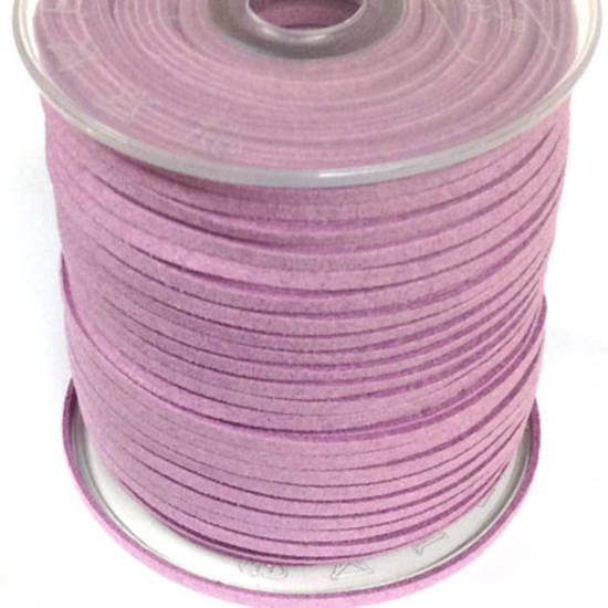 Faux Suede Cord, Dusky Pink