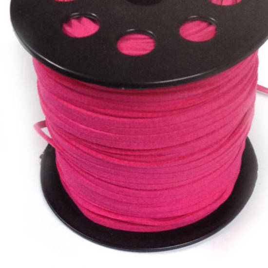 Faux Suede Cord, Hot Pink