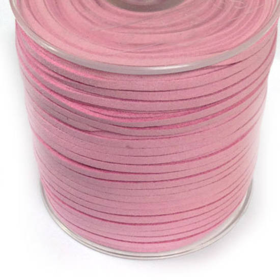 Faux Suede Cord, Pale Pink