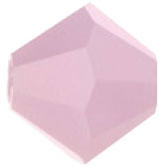 6mm Swarovski Crystal Bicone, Rose Alabaster