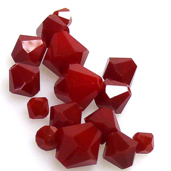 6mm Swarovski Crystal Bicone, Dark Red Coral