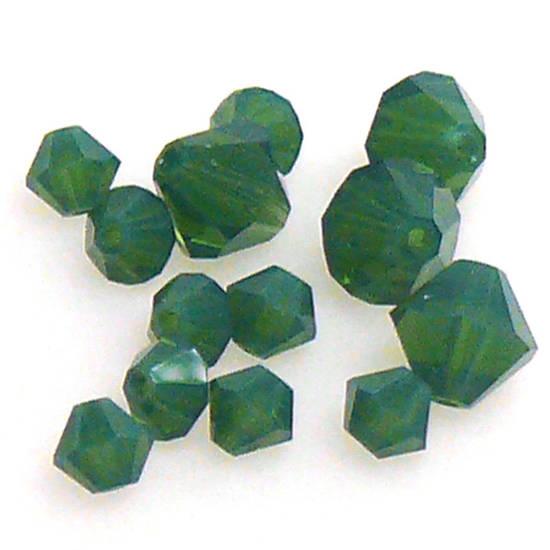 4mm Swarovski Crystal Bicone, Palace Green Opal