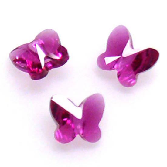 Swarovski Crystal Butterfly, Fuschia