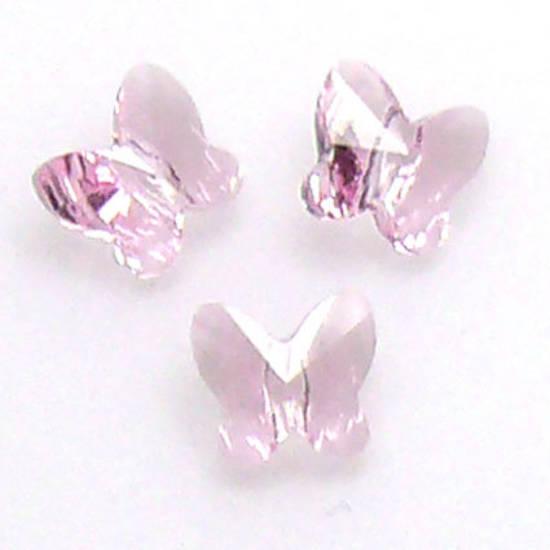 Swarovski Crystal Butterfly, Rose, light