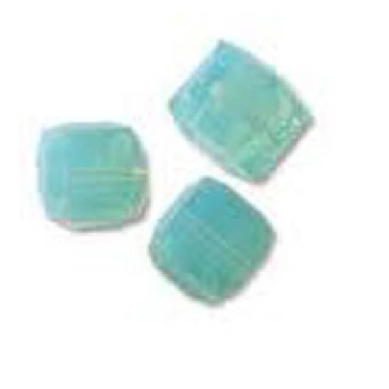 4mm Swarovski Crystal Cube, Pacific Opal