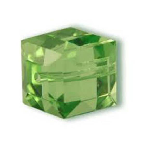 4mm Swarovski Crystal Cube, Peridot