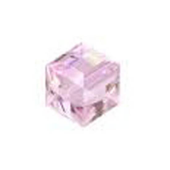 6mm Swarovski Crystal Cube, Rosaline