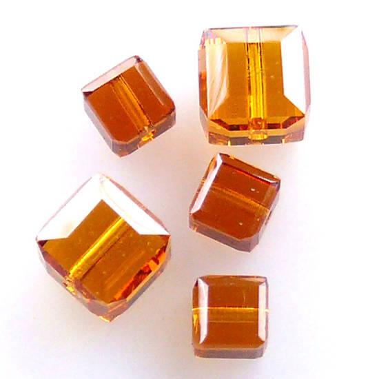 4mm Swarovski Crystal Cube,Topaz