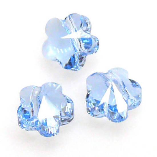 Swarovski Crystal 5mm Flower, Aquamarine