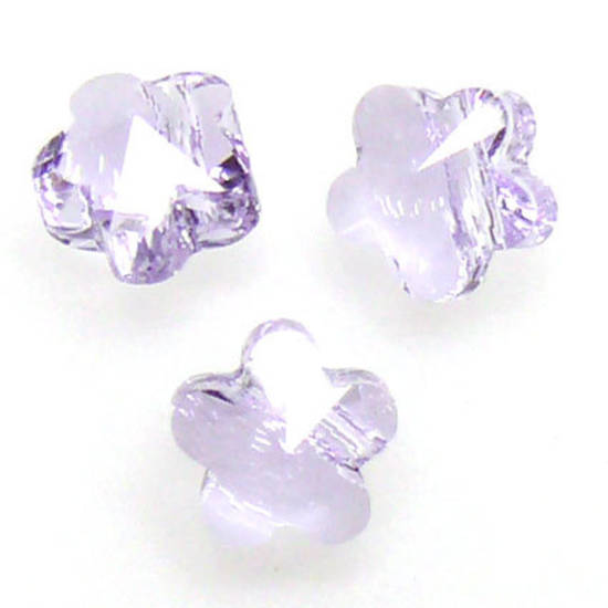 Swarovski Crystal 5mm Flower, Violet