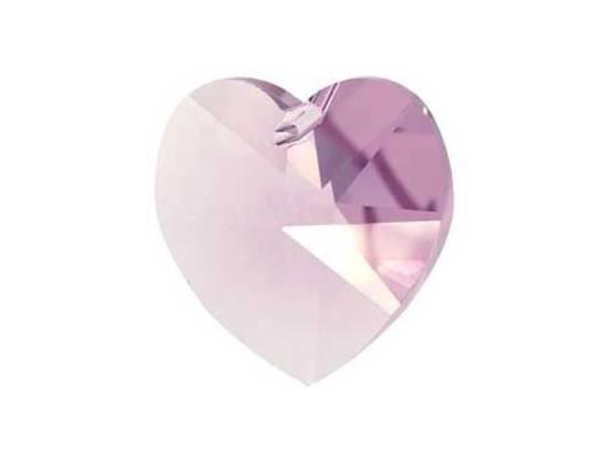 Swarovski Heart, 10mm - Lt Amethyst