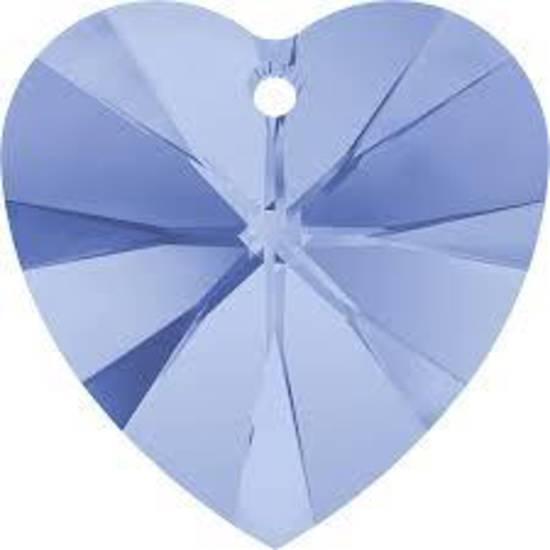 Swarovski Heart, 10mm - Lt Sapphire