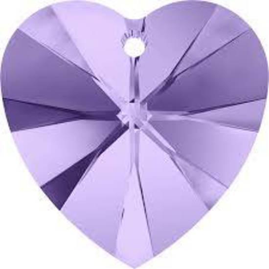 Swarovski Heart, 10mm - Tanzanite