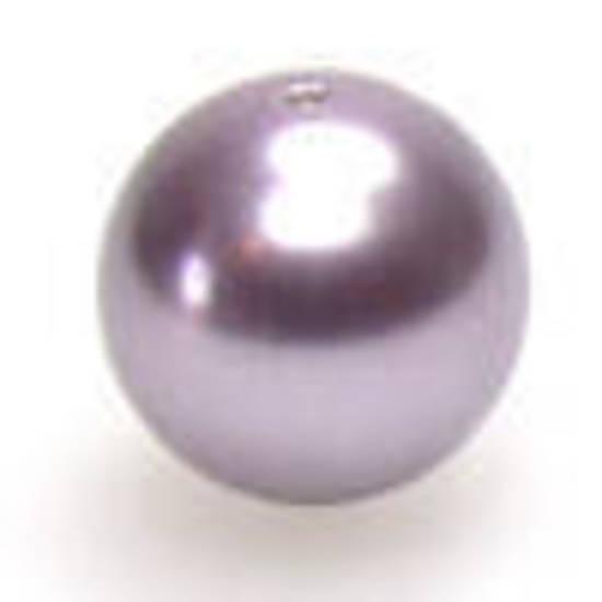 8mm Round Swarovski Pearl, Mauve