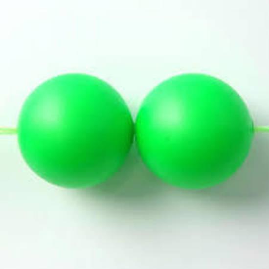 4mm Round Swarovski Pearl, Neon Green