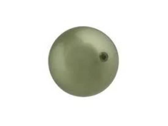 4mm Round Swarovski Pearl, Powder Green