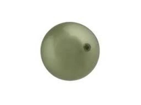 10mm Round Swarovski Pearl, Powder Green