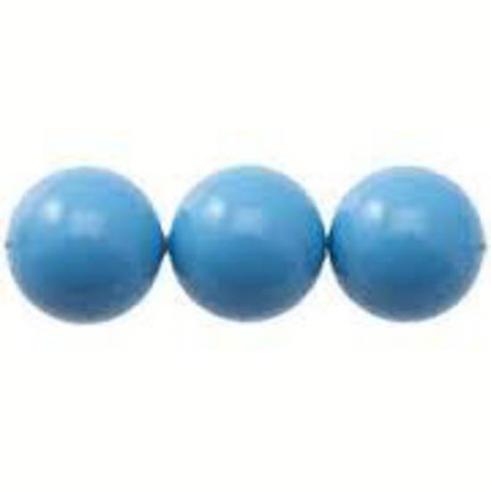8mm Round Swarovski Pearl, Turquoise