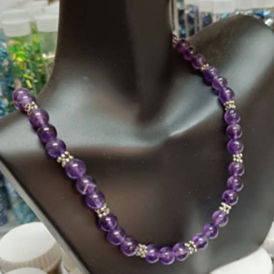 KITSET: Simple Semi Precious Necklace - Amethyst