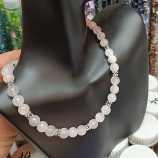 KITSET: Simple Semi Precious Necklace - Rose Quartz