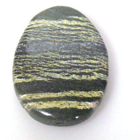 Semi Precious striped flat oval bead, approx 30mm x 40mm