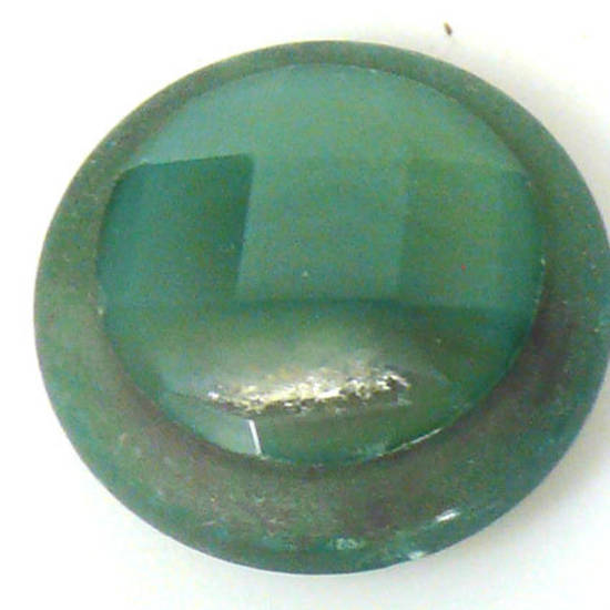 Round Agate Cameo Bead, 30mm x 12mm high