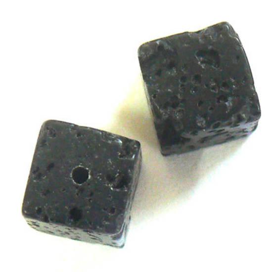 Lava Rock, square, 8mm