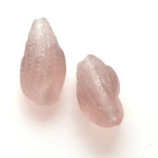 NEW! Glass Conch Shell Bead, 10mm x 18mm