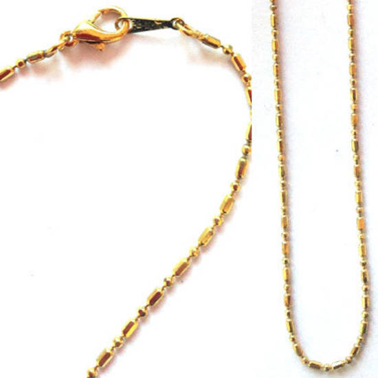 Pre made sink chain necklace - gold
