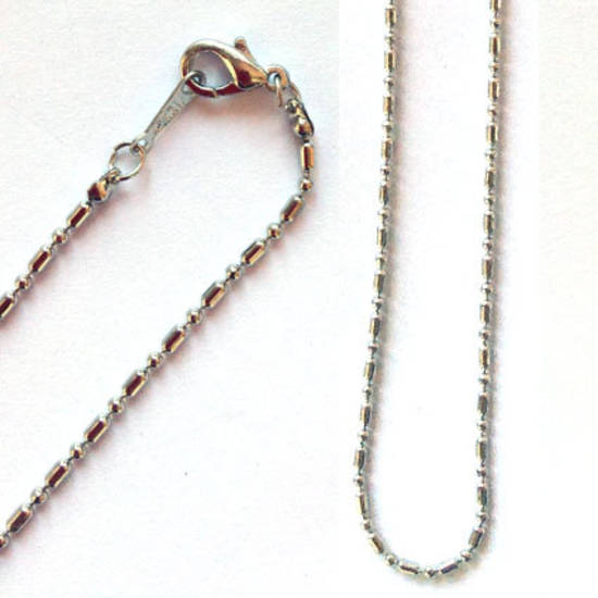 Pre made sink chain necklace - antique silver