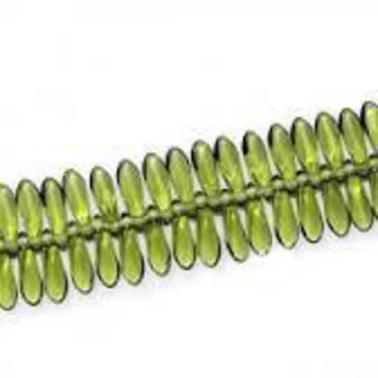 Dagger Bead, 3mm x 10mm:Peridot