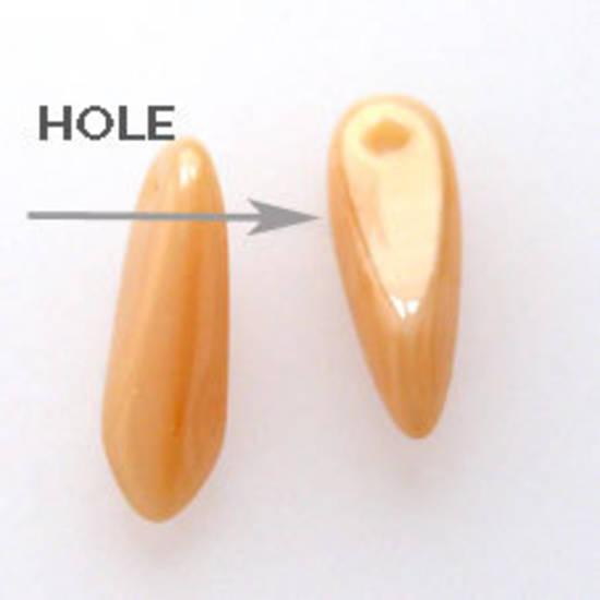 Dagger Bead, 3mm x 10mm:Opaque Caramel
