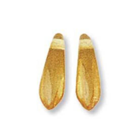 Dagger Bead, 3mm x 10mm: Light Amber