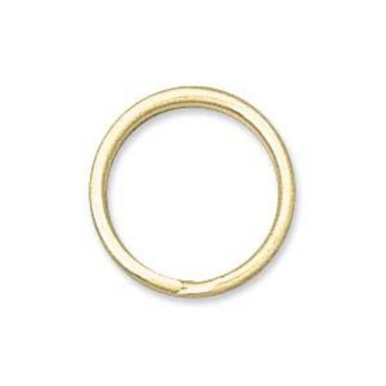 12mm Split Ring, gold