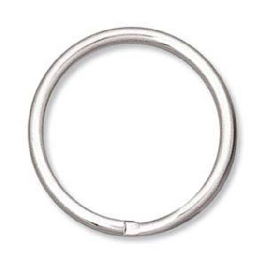 24mm Split Ring, antique silver