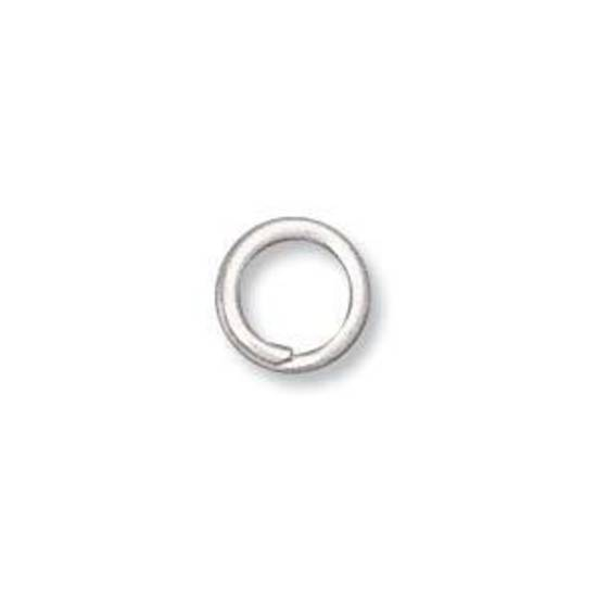 6mm Split Ring, antique silver