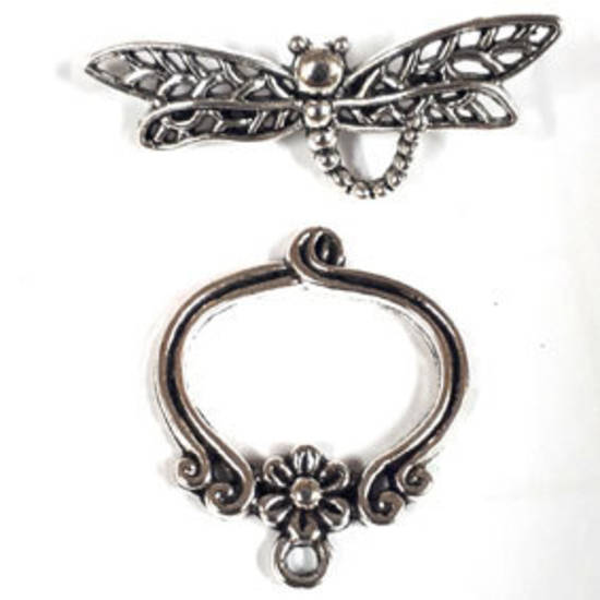 NEW! Toggle: Large dragonfly - silver